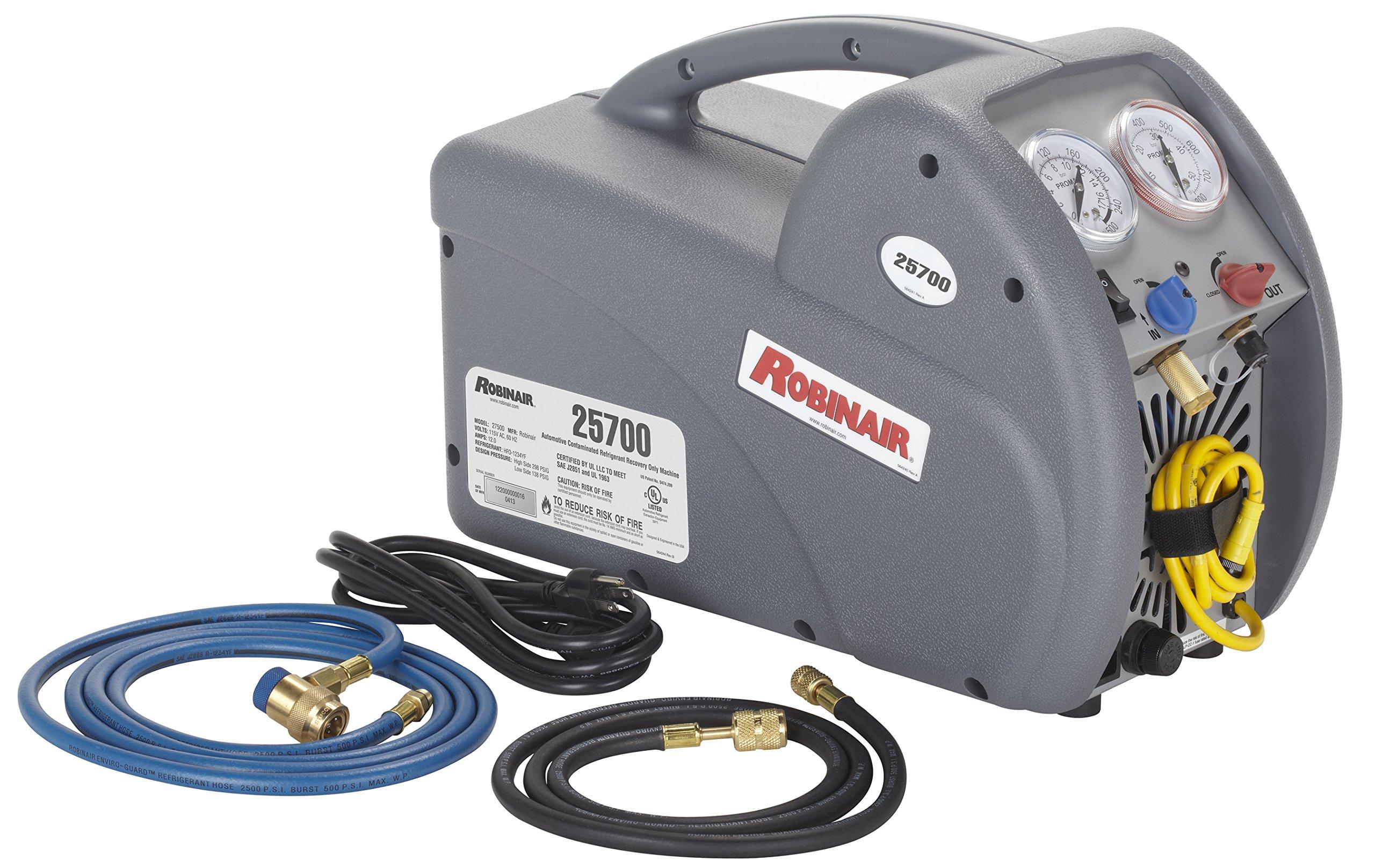 Robinair 25700 Contaminated Refrigerant Recovery Machine for R-134a and R-1234yf