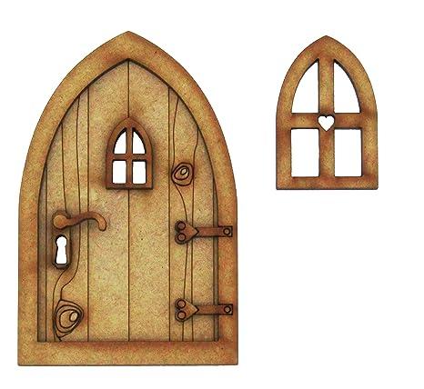 Puerta para casa de campo de hadas 3D (tridimensional), requiere montaje. Juego