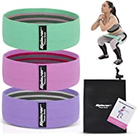 SPINZAR Fabric Resistance Band for Legs and Butt, Set of 3 Booty Band for Women/Men for Squat Glute Hip Circle Workout…