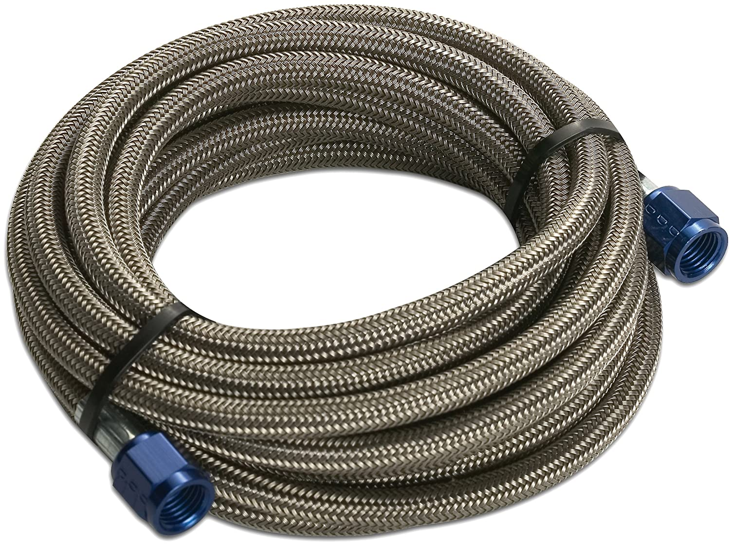 14 4AN Female x 4AN Female Design Engineering 080201 CryO2 Stainless Steel Braided Hose