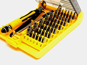 Compact Repair Kit for Phones 45 in 1 Precision Screwdriver Set Tablets PCs and More by IT Helping Hand