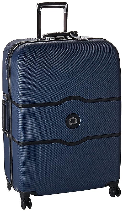 DELSEY Chatelet Hard + Maleta, 77 cm, 112 Liters, Azul (Bleu)