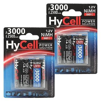 ECO Akku Batterien 4 x D Mono Ni-MH-Akkus 4500 mAh 1,2V Akkus MODELBAU  TOP