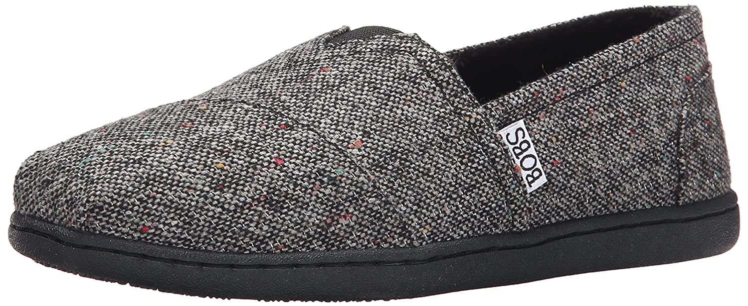 Skechers BOBS from Women's Bliss Fashion Slip-On Flat B00PRAA2DI 7 B(M) US|Black Woven
