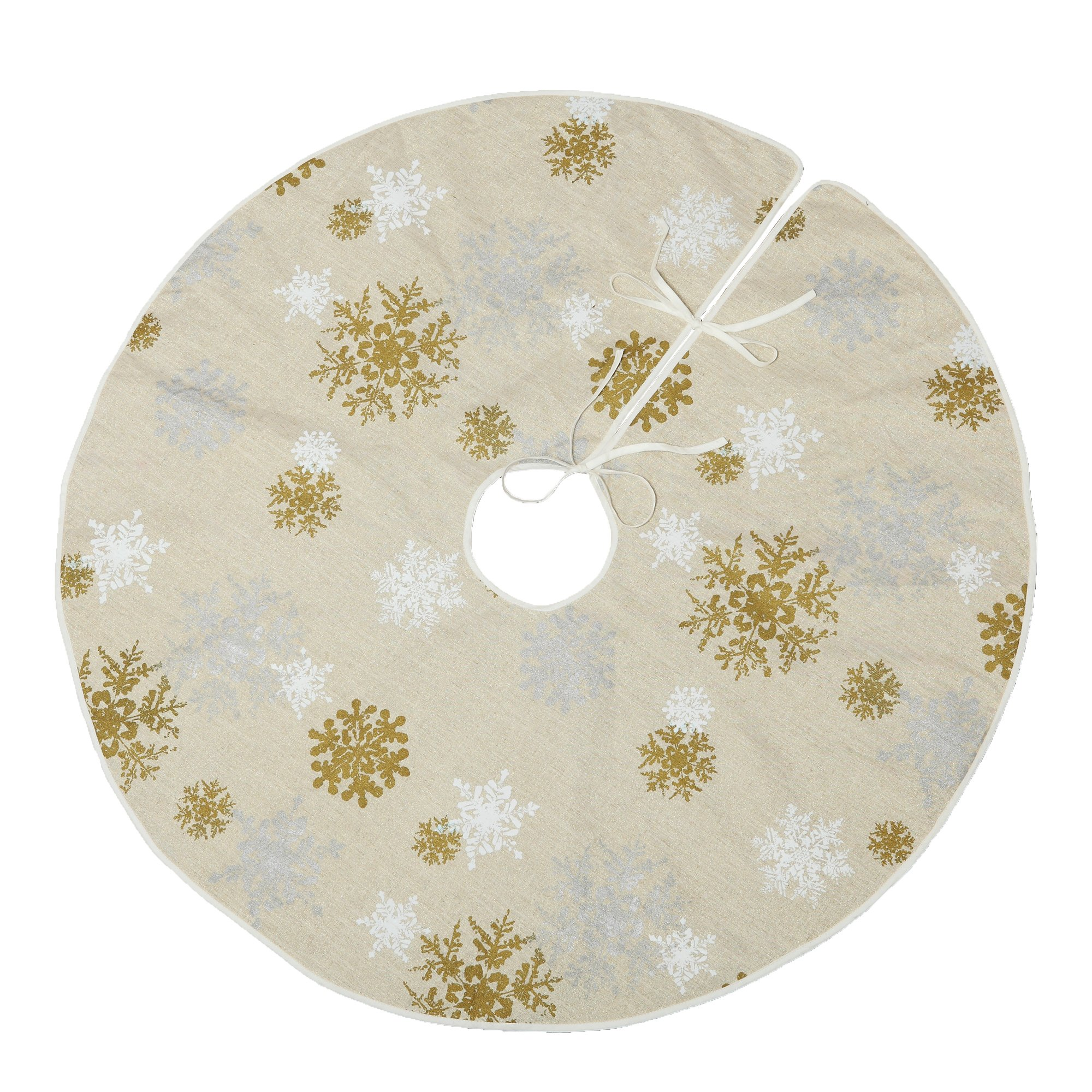 VGIA 50'' Christmas Tree Skirt with Snow Pattern