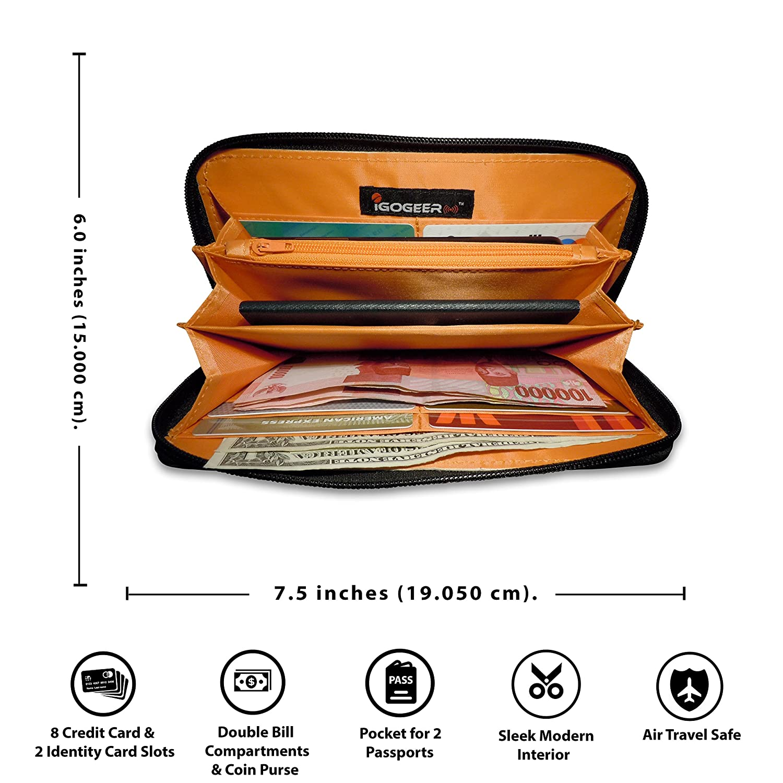 Amazon.com: Cartera para pasaporte W05, billetera de viaje ...