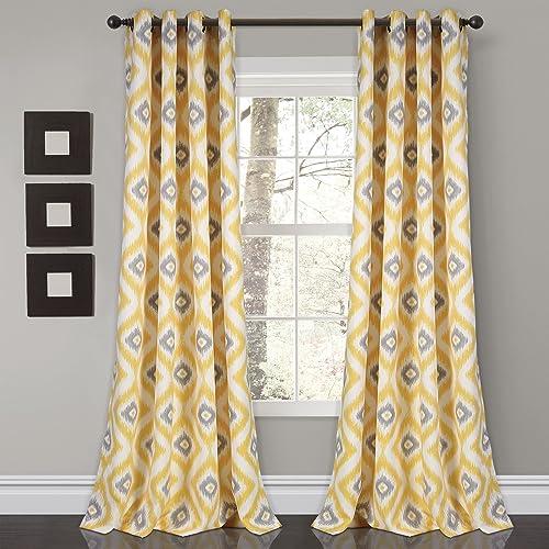 Best window curtain panel: Lush Decor Room Darkening Window Curtain Panel Set