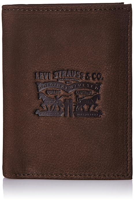 279107b7c LEVIS FOOTWEAR AND ACCESSORIES Vintage Two Horse Vertical, Monedero para  Hombre, Marrón (Dark