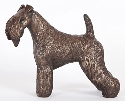 Kerry Blue Terrier Mini Hand Painted Figurine Hand Painted