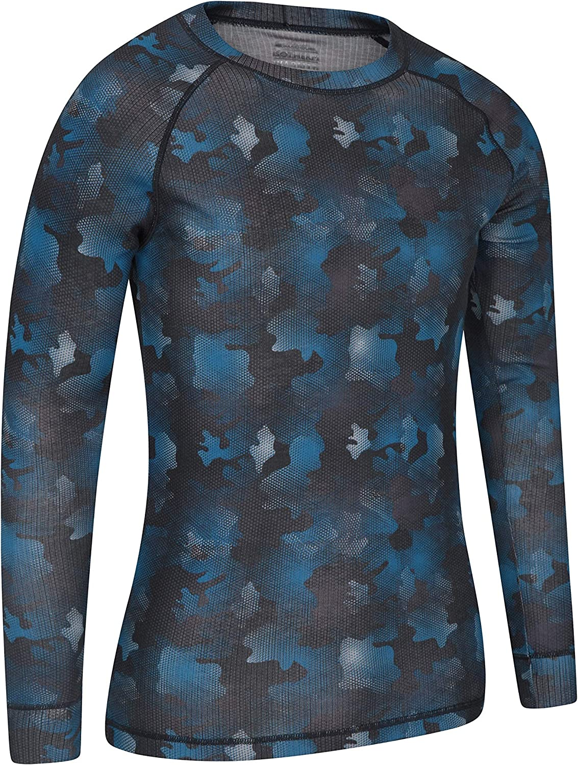 Travelling Black XS Mountain Warehouse Talus Mens Thermal Baselayer Top Lightweight Great for Winter Zip Neck Long Sleeve Sweater Quick Drying Pullover Breathable