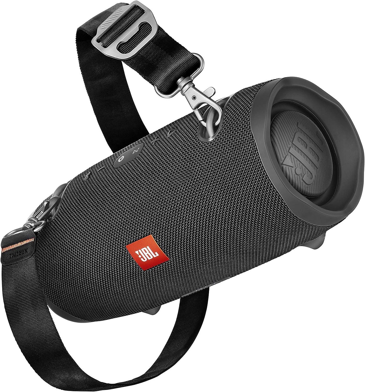 JBL Xtreme 2 - Altavoz Bluetooth portátil resistente al agua (IPX7) con manos libres y radiador de bajos JBL, JBL Connect+, batería 15h, negro