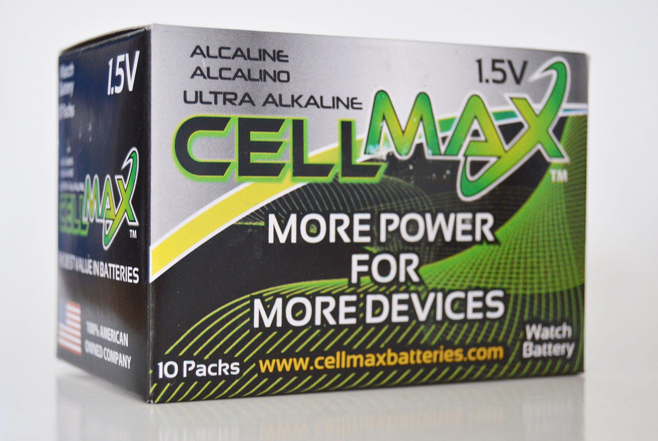 CellMax CM-AG5-BP3 - (30) Alkaline Button AG5 Batteries (10, 3-Packs) by CellMax (Image #4)