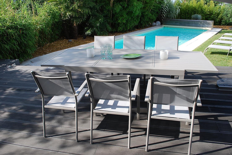 Vital Table 240 Extensible Creador Salon De Jardin Taupe 160 CoxrBeWQd