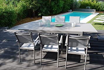 creador Salon de Jardin Vital 240 Taupe - Table Extensible 160 ...