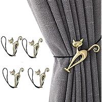 argent/é Vosarea Lot de 2 crochets d/'embrasses vintage en alliage pour rideau porte murale manteaux chapeaux