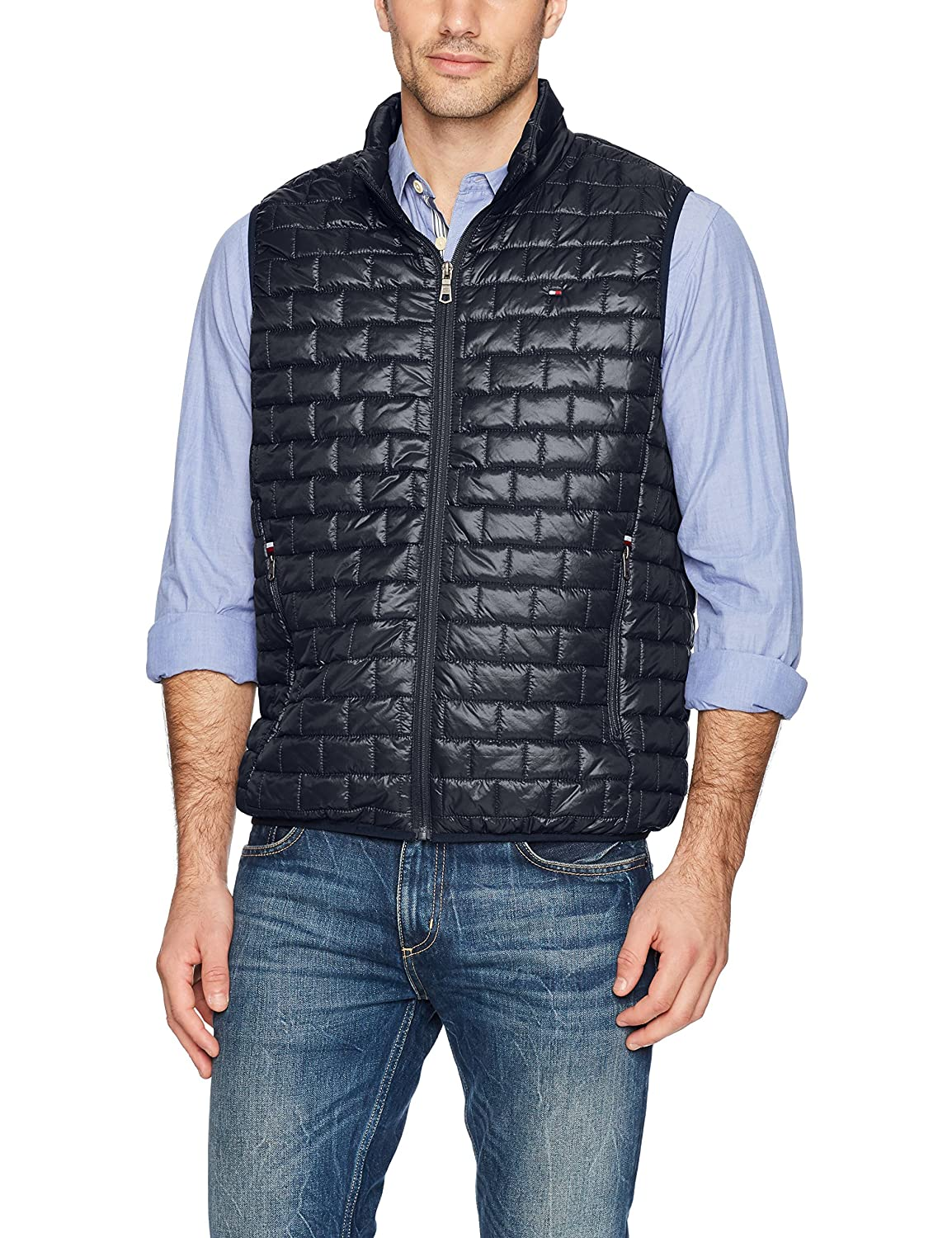 Tommy Hilfiger Mens Box Quilted Lightweight Ultra Loft Vest