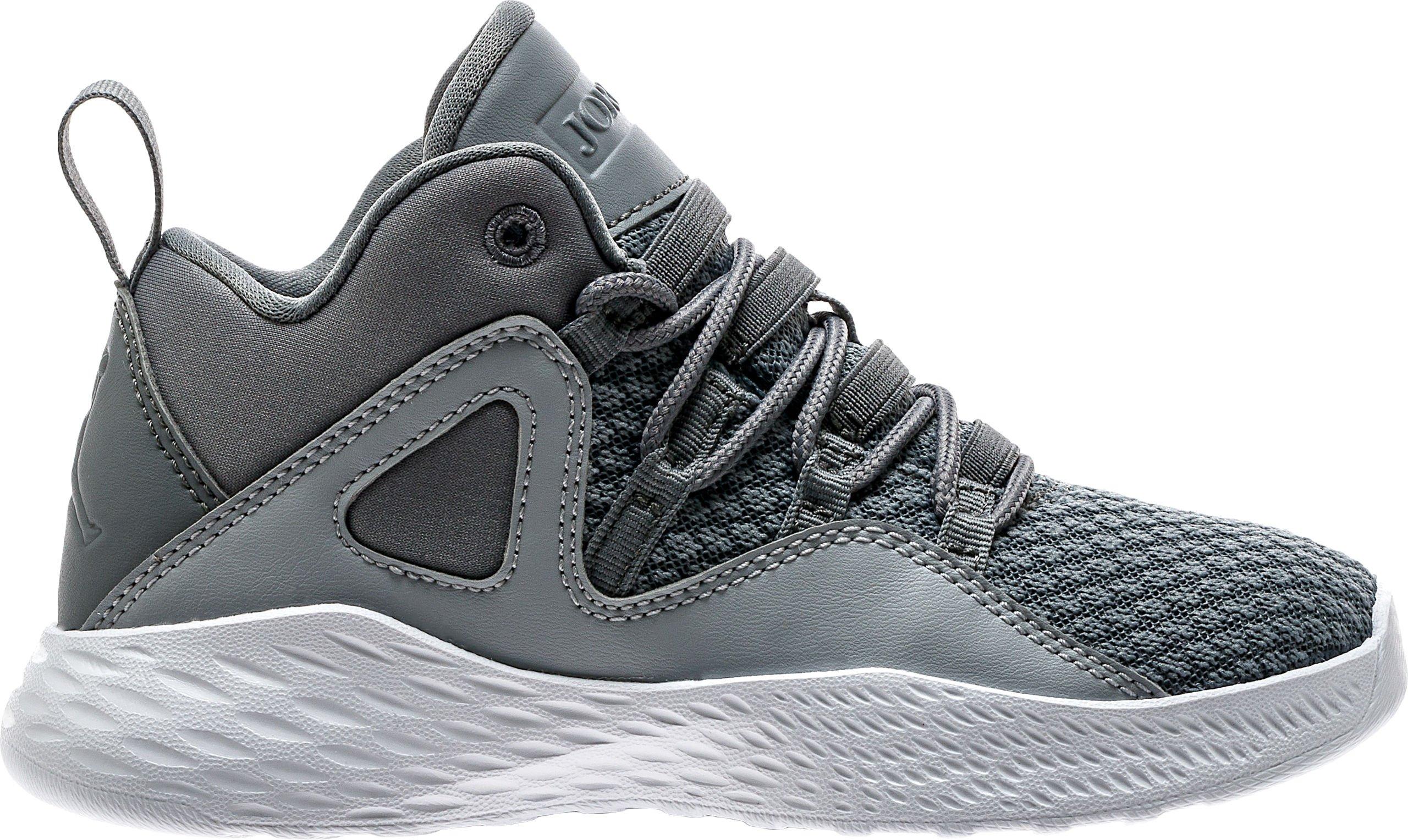 Jordan Boy's Formula 23 Basketball Shoes Cool Grey/Cool Grey-White-Wolf Grey 3Y