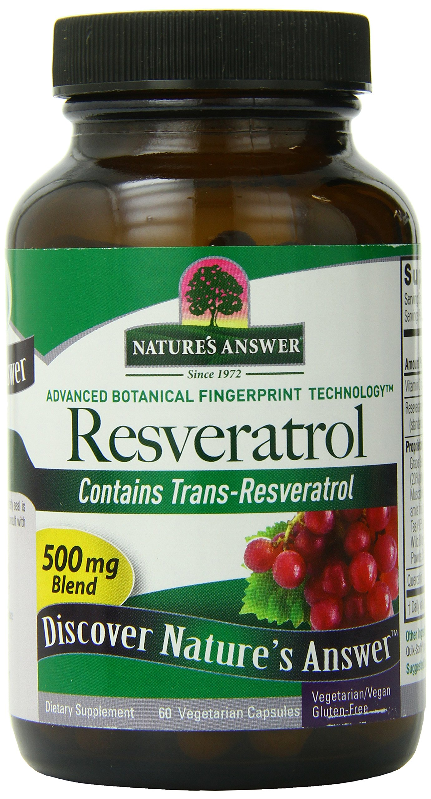 Nature's Answer Resveratrol 250 Mg, 60 Count (Pack of 6)