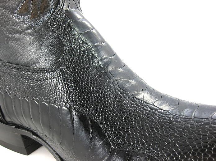 Botas Vaqueras de Caballero Piel Pata de Avestruz Cuadra: Amazon.es: Zapatos y complementos