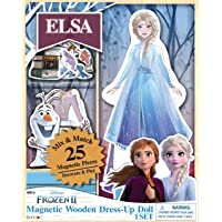 Disney Frozen 2 Elsa Wooden Dress-Up Doll with 25 Magnetic Dress Pieces AS47257