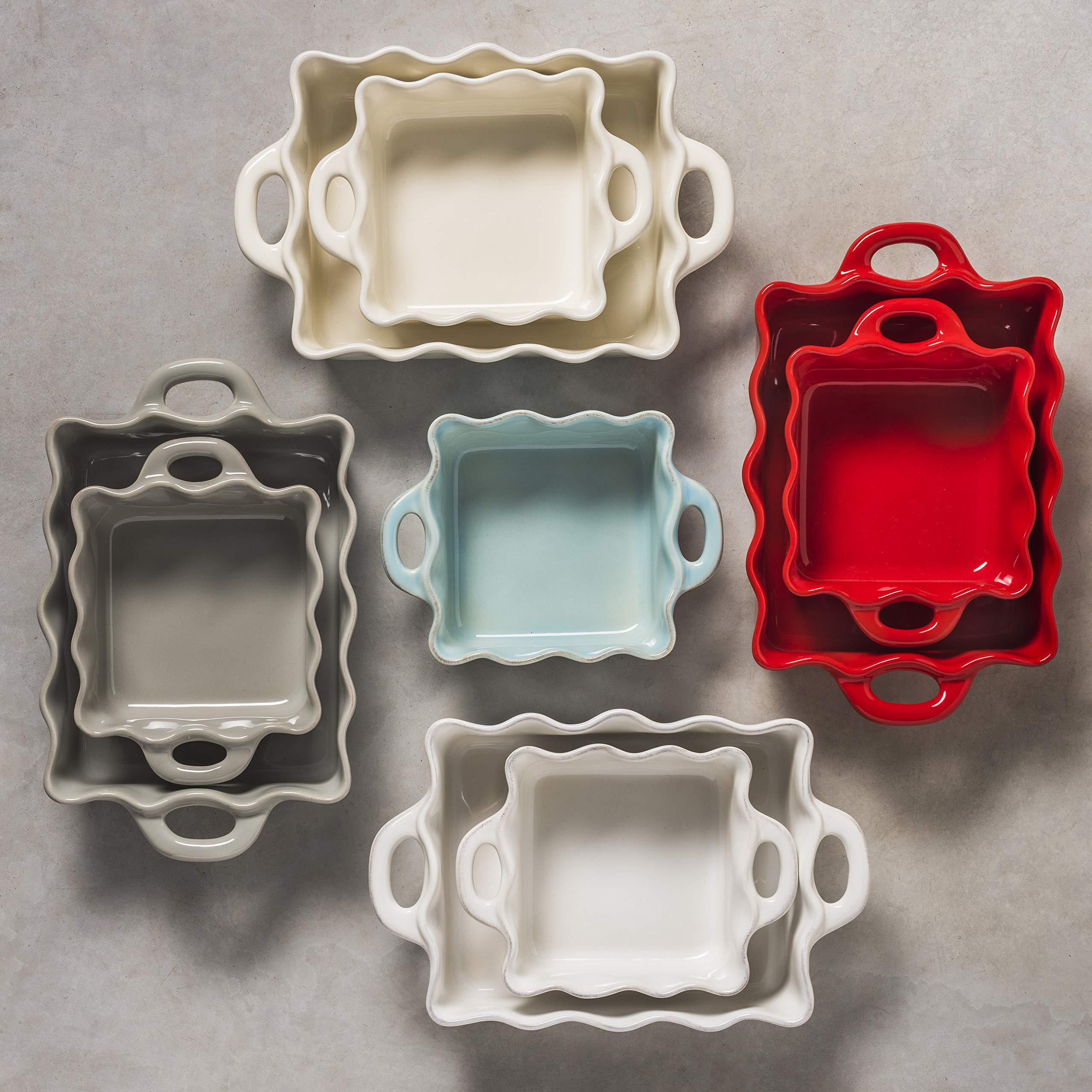 Casafina Cook & Host Collection Stoneware Ceramic Ruffled Ramekin 4.5'' (Set 4), Grey by Casafina (Image #4)