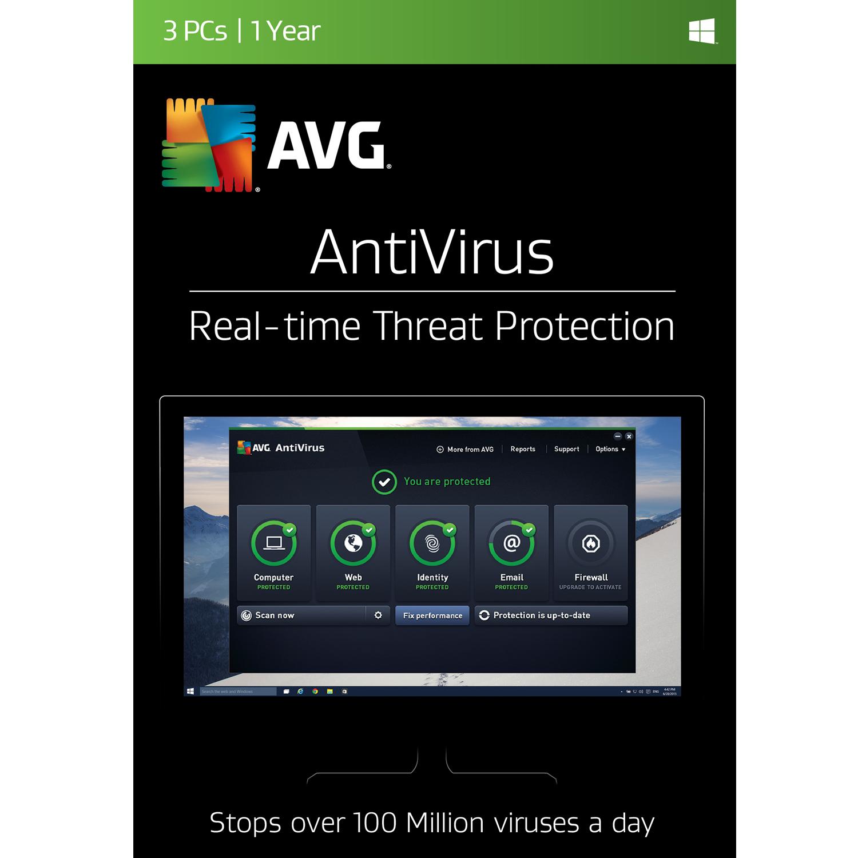 Avg Antivirus 2017 3 Users 1 Year  Online Code