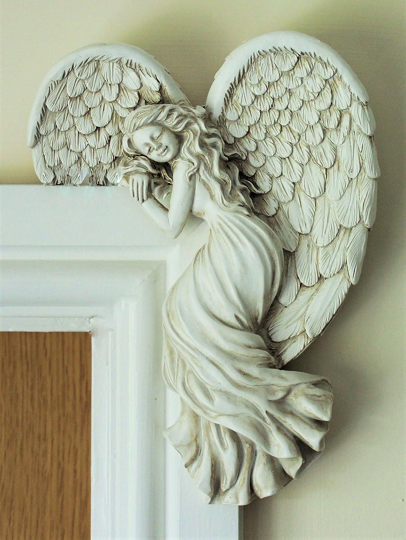 dise/ño de /ángel en la Pared Derecha Home and Garden Products Decoraci/ón para Marco de Puerta dise/ño de Hada Secreta