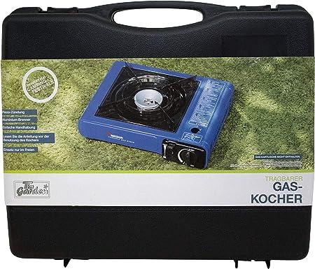 CAMPER Cocina de Gas portátil con maletín y 8 Cartuchos de Gas