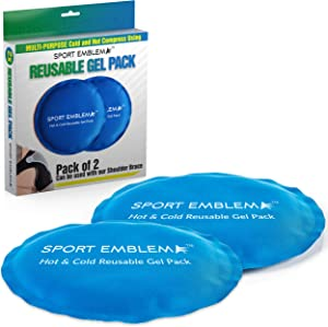 "Gel Ice Packs for Injuries Reusable - (2 Gel Packs x 5.5"") - Cold Compress for Kids or Adults, Microwavable and Refreezable, Small Ice Pack for Injury Shoulder, Neck, Face, Breast, Knee, Elbow"