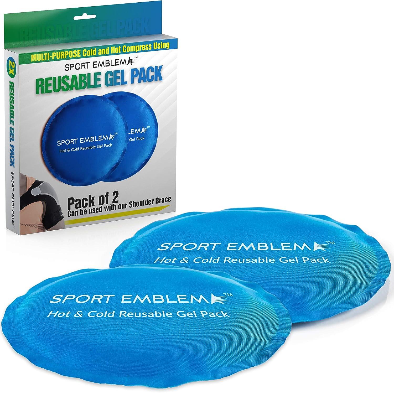 Amazon.com: Paquete de hielo para lesiones reutilizables, 2 ...