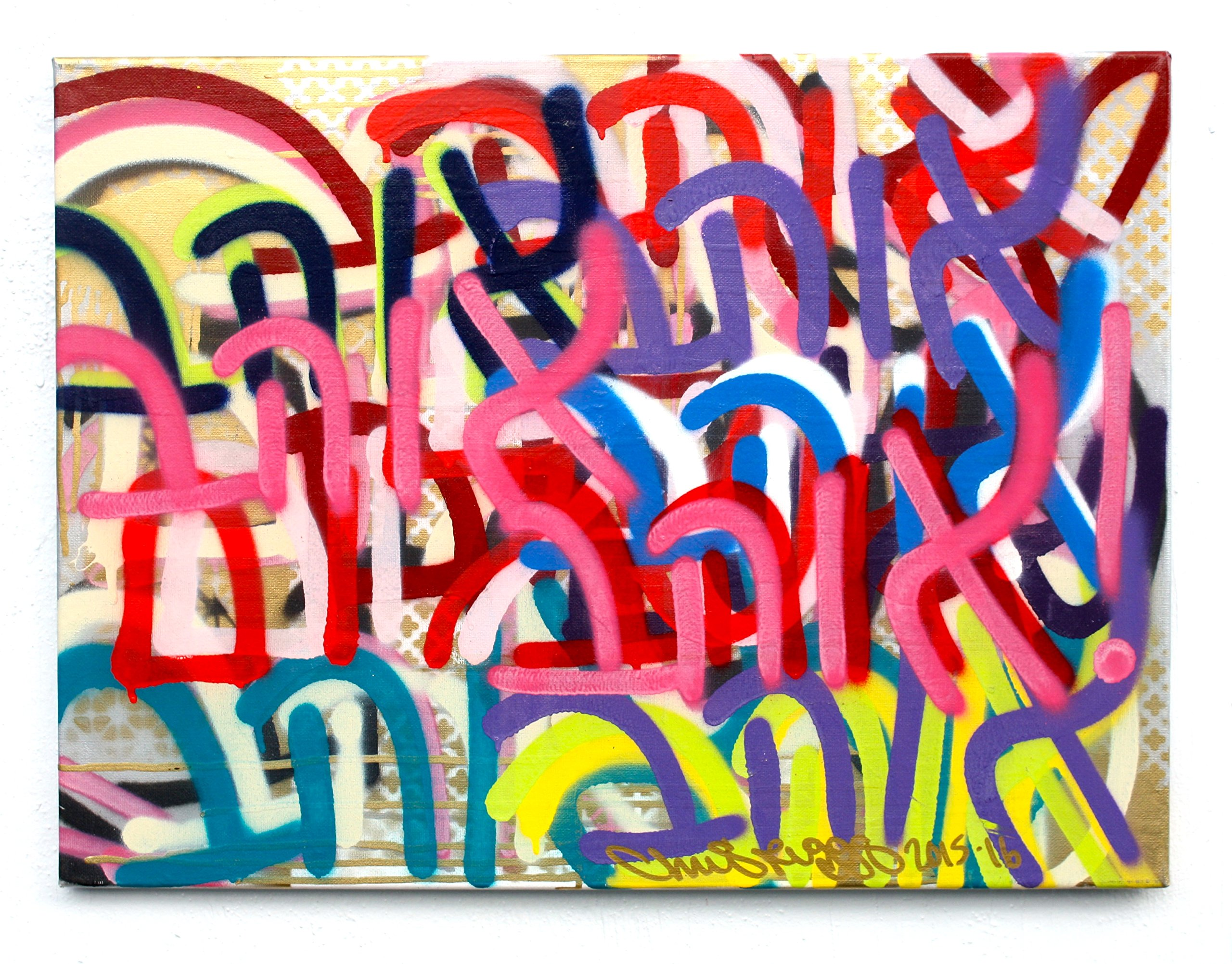 CHRIS RIGGS Original Love Hebrew fine art painting 24'' x 18'' pop street art spray paint NYC acrylic contemporary modern art urban canvas