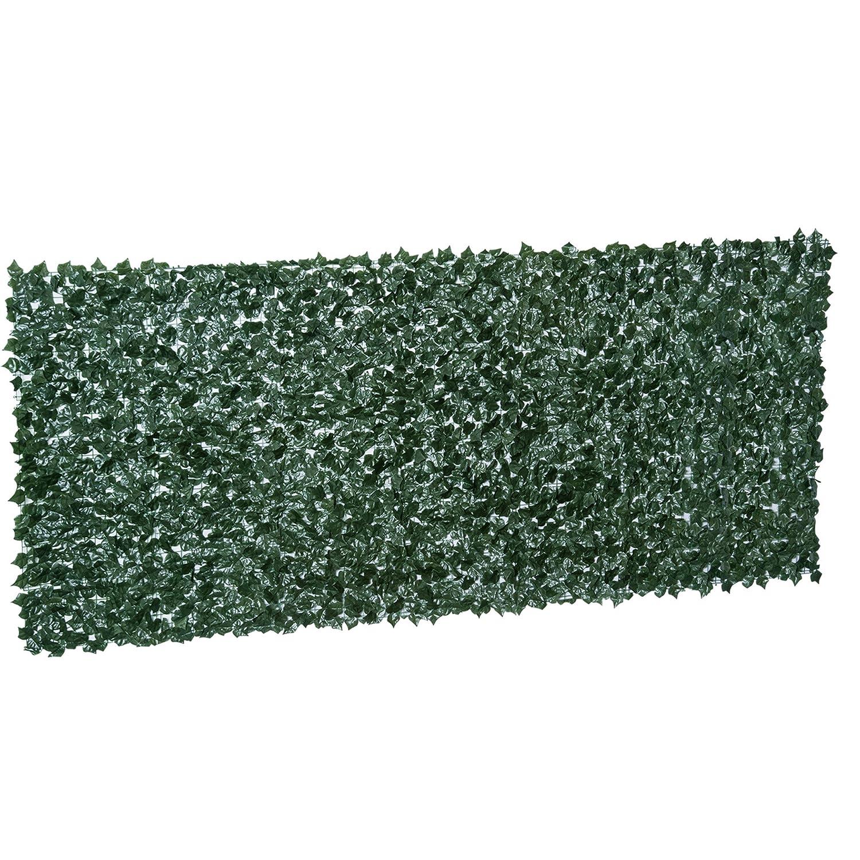 Outsunny Kunstliche Hecke Sichtschutzhecke Wanddekoration Pflanzen
