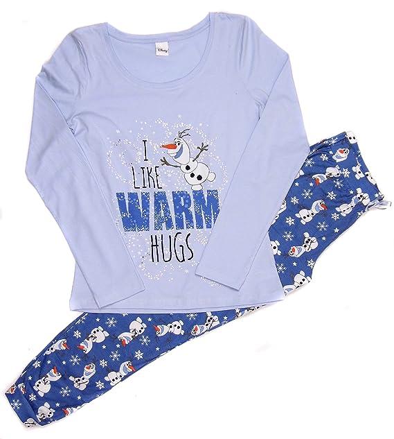 Mujer Pijama frozen Olaf I dar cálido umarmungen Tamaño 34 – 50 Ideal Mother