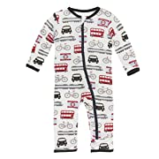 Kickee Pants Little Boys Print Coverall with Zipper - London Transport, 3-6 Months