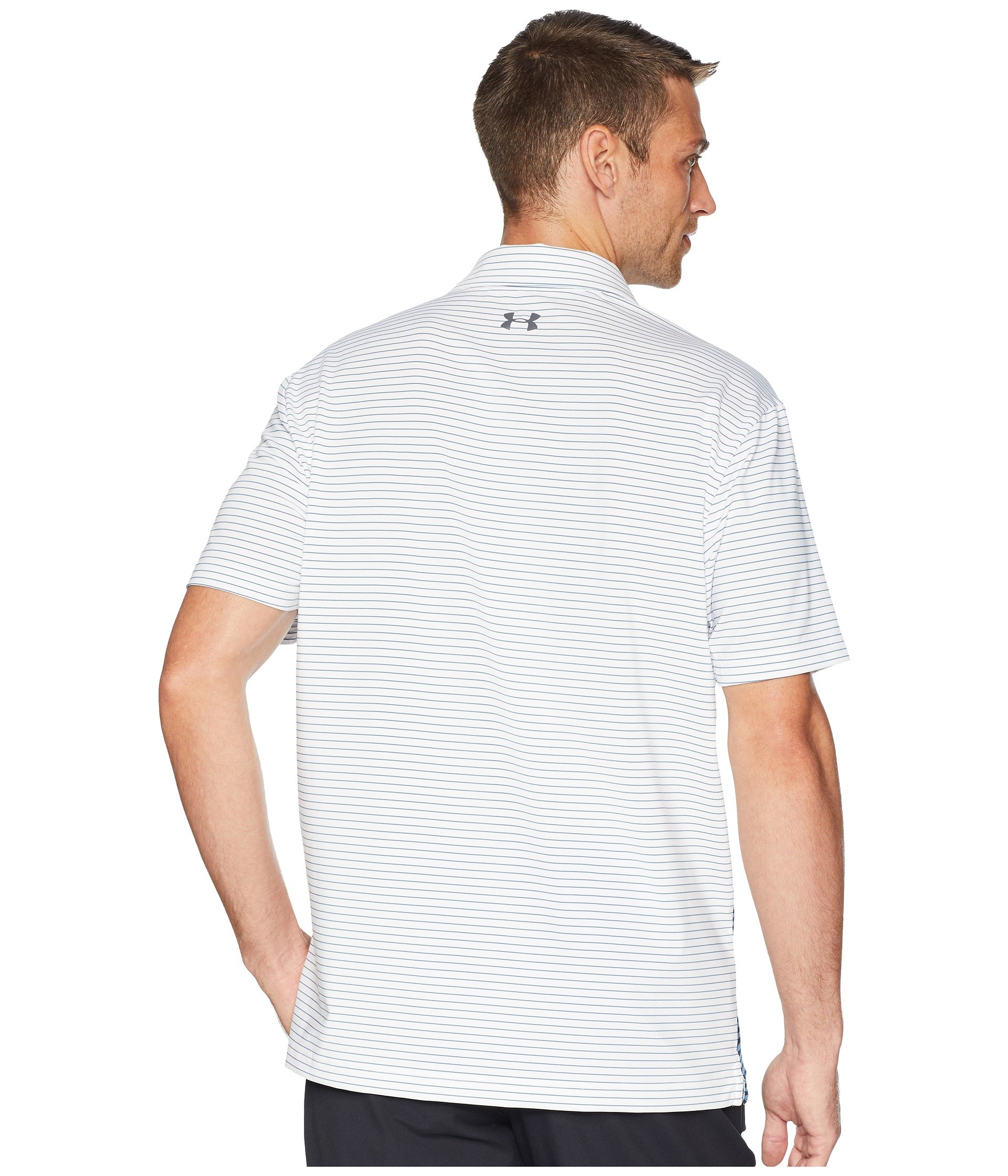 Under Armour Men's Playoff Polo, White (124)/Rhino Gray, X-Small by Under Armour (Image #4)
