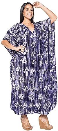 52f85c063803a LA LEELA Long Kaftan Caftan Women's Maxi Cover ups Beach Swimwear Dresses  Evening Gown Ladies Lounge