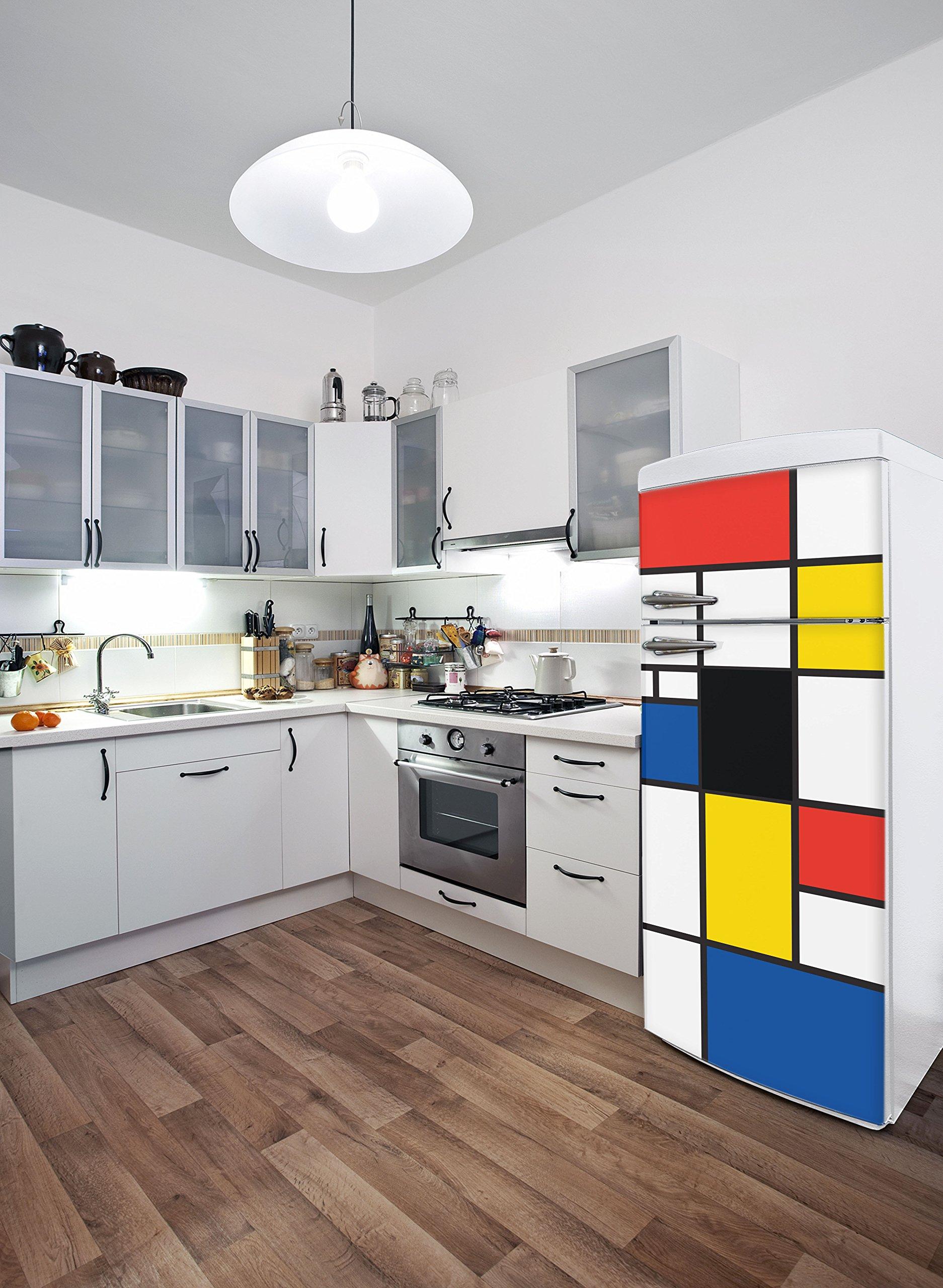 Adzif''Pop Mondrian Wall Decals Multi