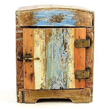 Divero Vintage Minibar Nachtschrank Nachttisch Schränkchen – Shabby ...