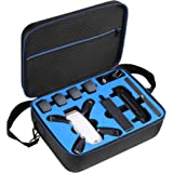 D DACCKIT Travel Carrying Case Compatible with DJI Spark Fly More Combo - Fit DJI Spark Drone, 4X Intelligent Flight Batterie
