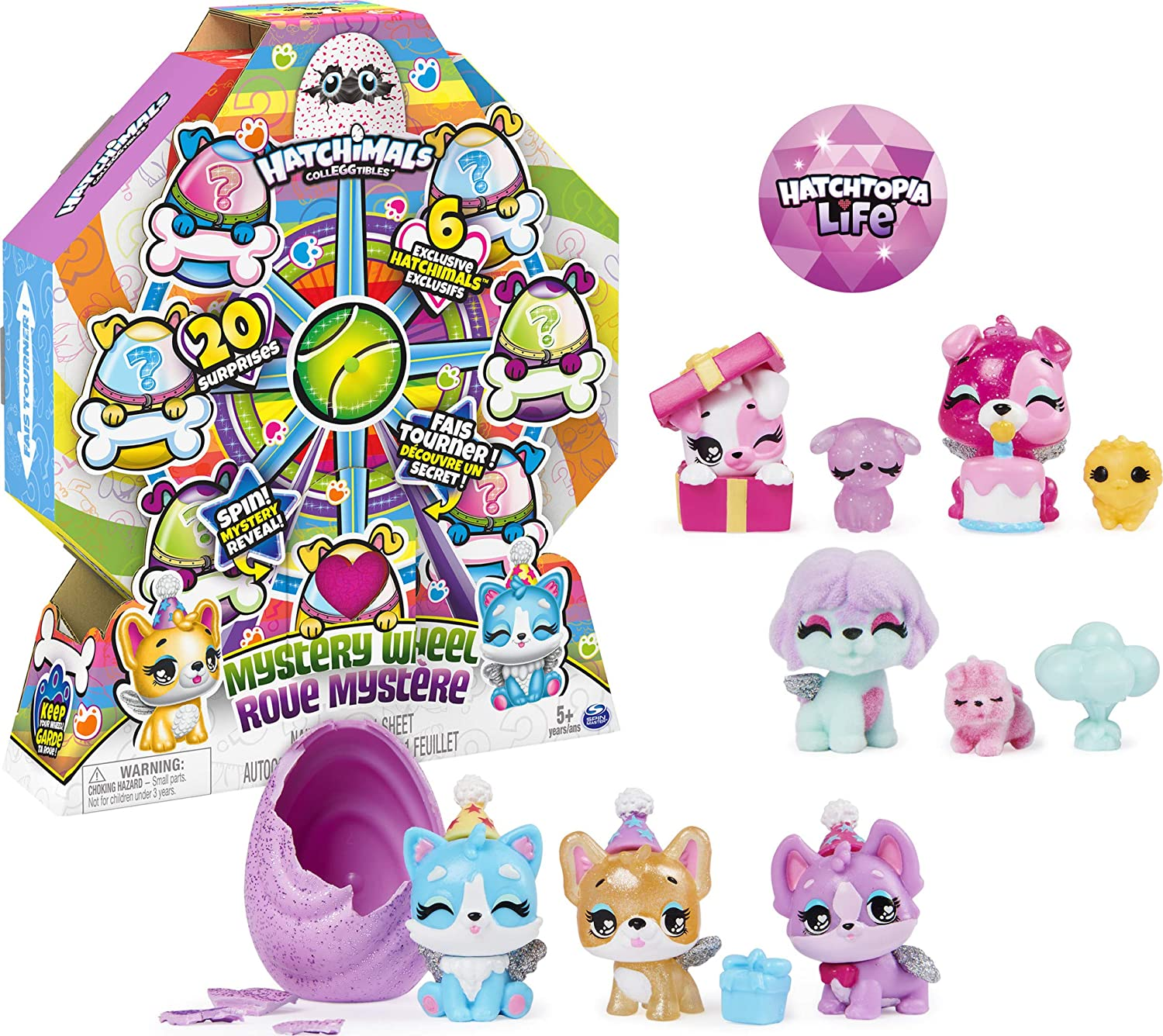 HATCHIMALS CollEGGtibles, Puppy Party Mystery Wheel with 20 Surprises 20% OFF £11.99 @ Amazon