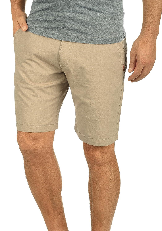 TALLA M. !Solid Thement Chino Pantalón Corto Bermuda Pantalones De Tela Para Hombre De 100% algodón Regular-Fit