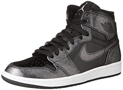 b840318b8b8e3 Jordan Air 1 Retro High Men Lifestyle Casual Sneakers New Black - 7.5