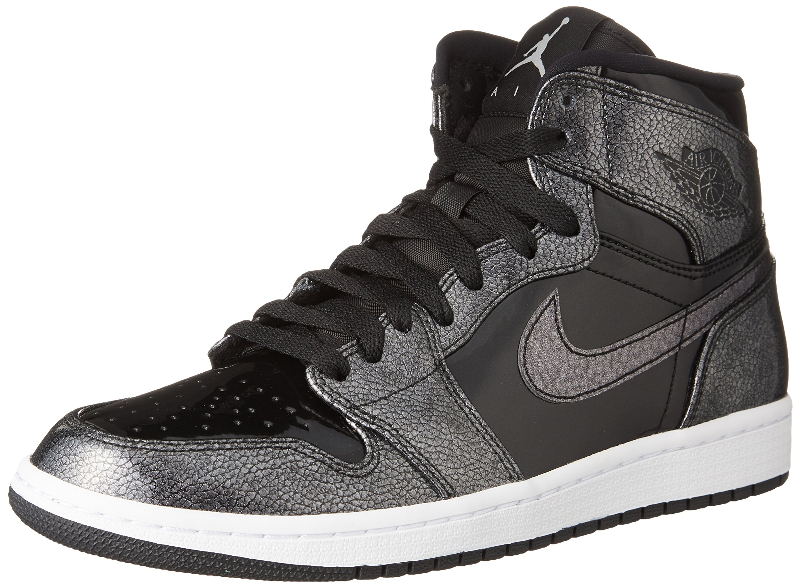 Nike Mens Air Jordan 1 Retro High Top Basketball Shoe Black/Black-White 10