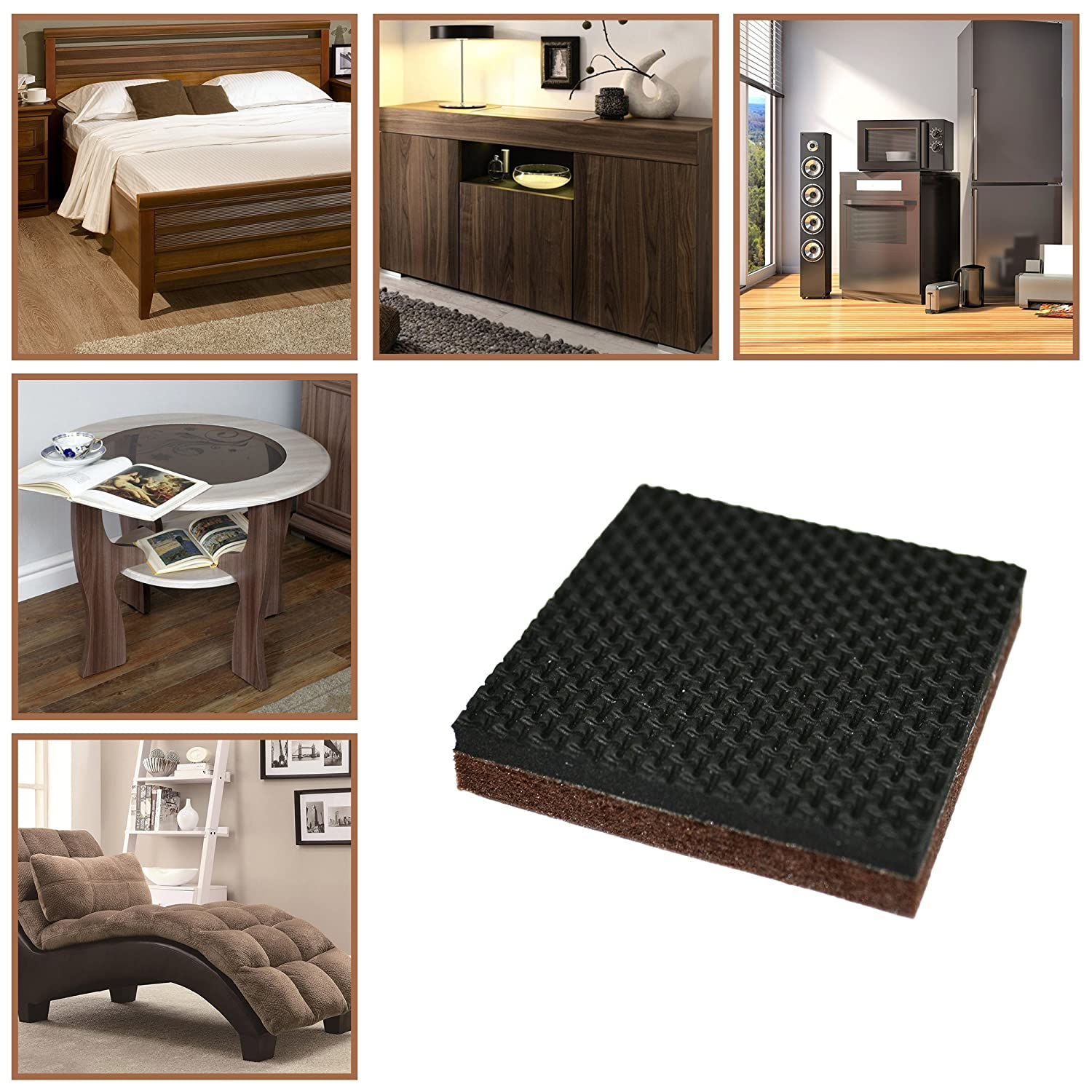 """Furniture Floor Protectors for Keep in Place Furniture /& Furniture Stoppers Clever /& Easy Rubber Feet Non Slip Furniture Pads X-PROTECTOR Best Furniture Grippers Premium 24 pcs 1 1//2/"""" Furniture Pad"""