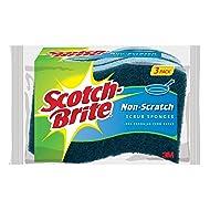 Scotch-Brite Non-Scratch Scrub Sponge, 3-Sponges