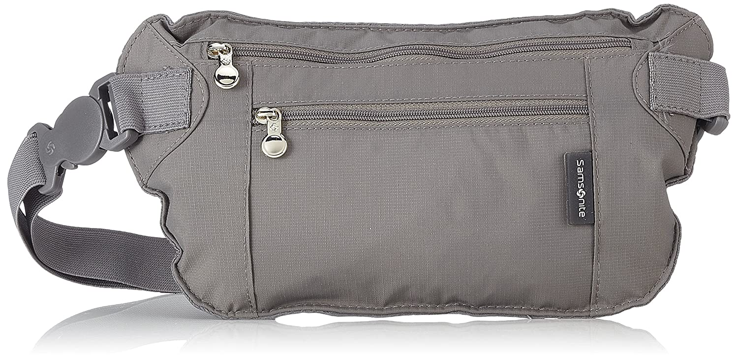 Samsonite Double Pocket Money Belt Cinturón de dinero Gris Gris