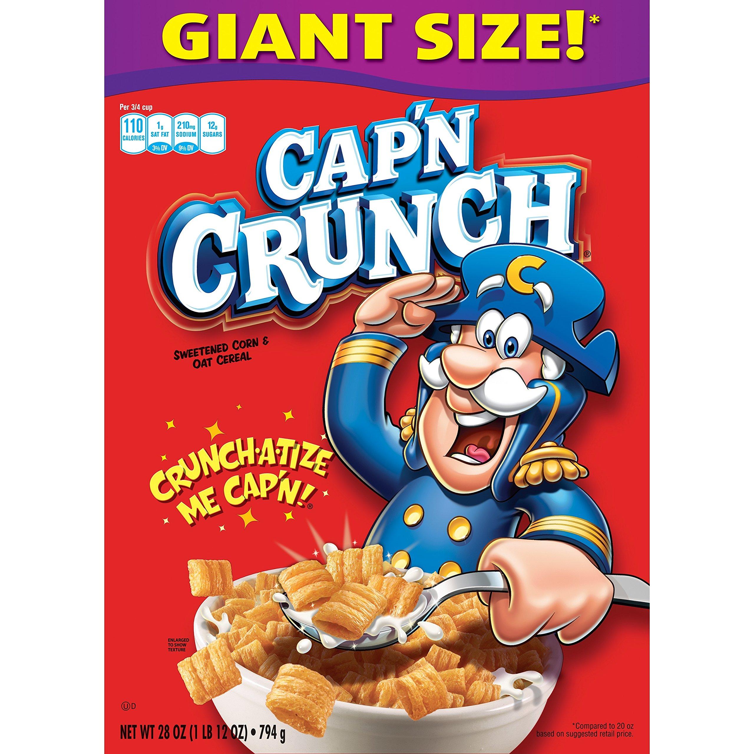 Quaker Cap'n Crunch, Regular, 28 oz Box