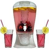 Oaklyn Dispenser per bicchieri per pozzo di grandi dimensioni 2 galloni trasparenti