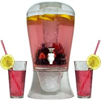 Oaklyn Dispensador de bebidas para el soporte con pico grande 2 galones Transparente