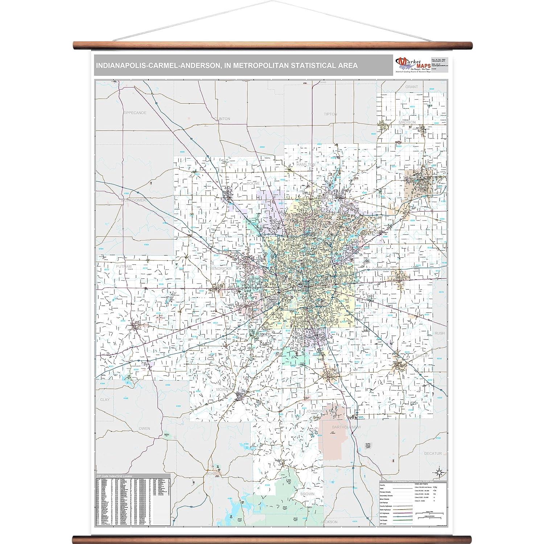 Carmel Zip Code Map.Amazon Com Marketmaps Indianapolis Carmel Anderson In Metro Area